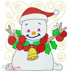 Christmas Block- Snowman Embroidery Design
