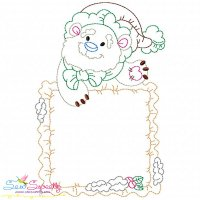 Vintage Stitch Christmas Frame-4 Embroidery Design