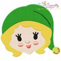 Jovie Head Embroidery Design