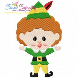Buddy elf Embroidery Design