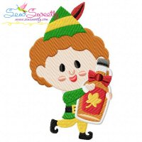 Buddy elf Maple Syrup Embroidery Design