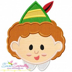 Buddy elf Head Applique Design