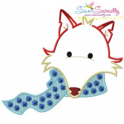 Fall Fox Scarf Embroidery Design