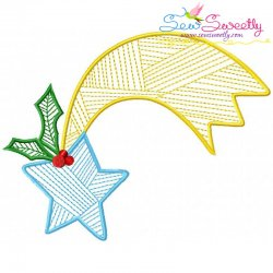 Bean Stitch Christmas Star Embroidery Design
