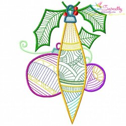 Bean Stitch Christmas Ornaments Embroidery Design