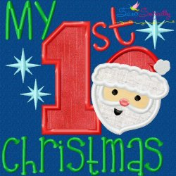 My 1st Christmas Applique Design