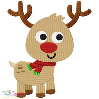 Happy Deer-2 Embroidery Design