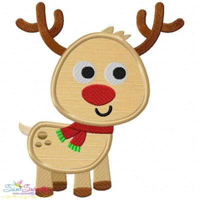Happy Deer-2 Applique Design