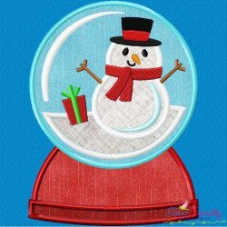 Snow Globe Applique Design