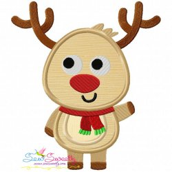 Christmas Reindeer-1 Applique Design