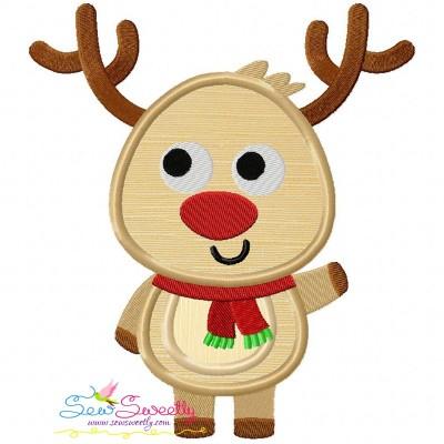 Christmas Reindeer-1 Applique Design