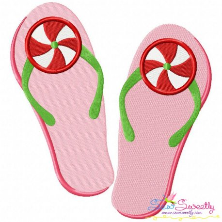 Peppermint Flops Embroidery Design