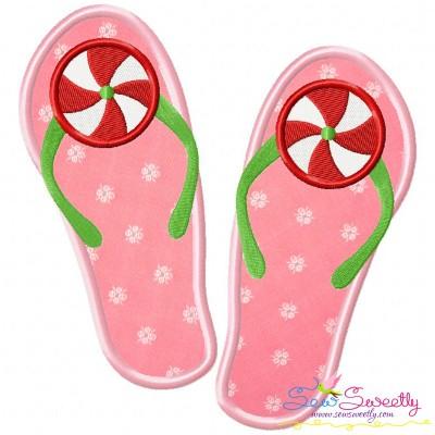 Peppermint Flops Applique Design