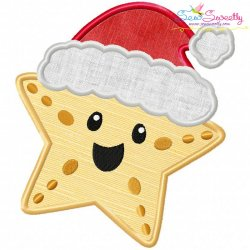 Christmas Santa Hat Starfish Applique Design