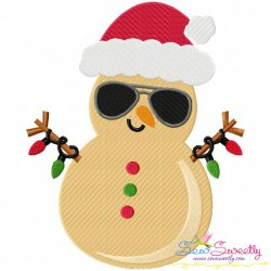 Christmas Beach Snowman Embroidery Design