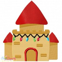 Christmas Castle Embroidery Design