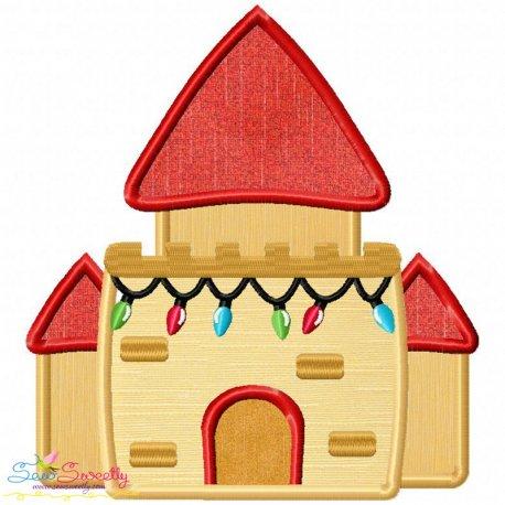 Christmas Castle Applique Design