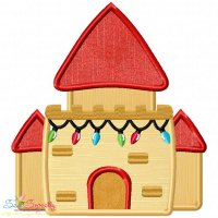 Christmas Castle Applique Design