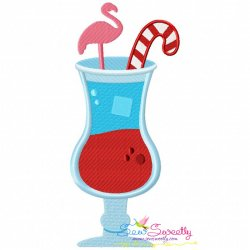 Candy Cane Drink Embroidery Design