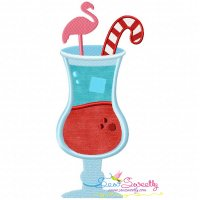 Candy Cane Drink Applique Design