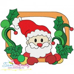 Christmas Frame- Santa-3 Embroidery Design