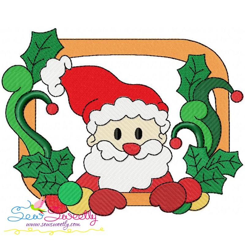 Christmas Frame-9 Machine Embroidery Design For Christmas