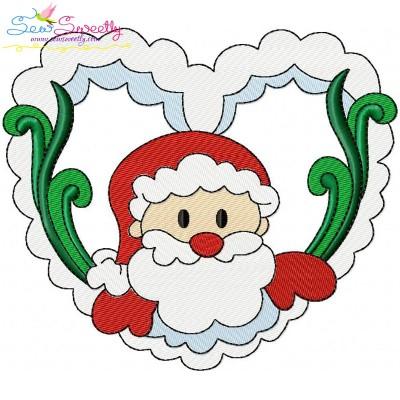 Christmas Frame- Santa-4 Embroidery Design