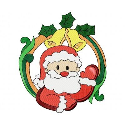 Christmas Frame- Santa-5 Embroidery Design