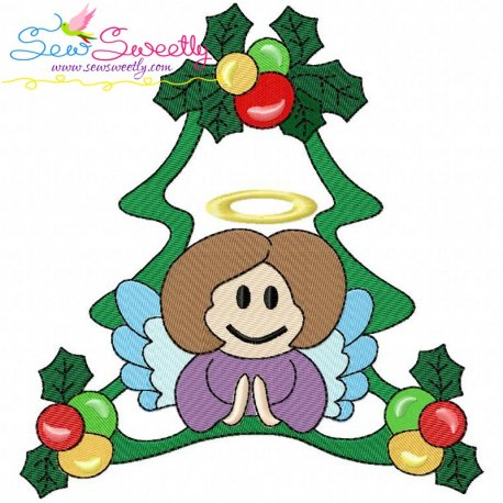 Christmas Frame- Angel-2 Embroidery Design Pattern- Category- Christmas Designs- 1