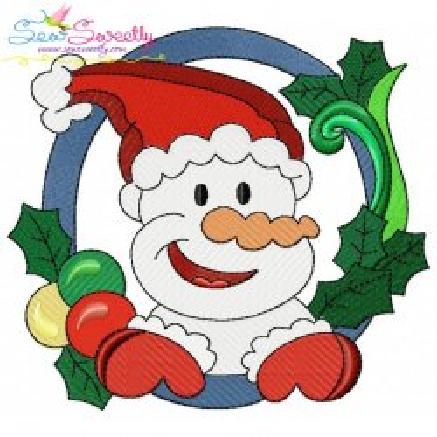 Christmas Frame- Snowman-5 Embroidery Design