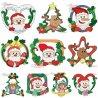 Christmas Frames Embroidery Design Bundle