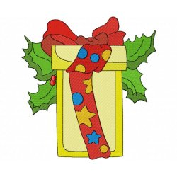Christmas Gift Embroidery Design