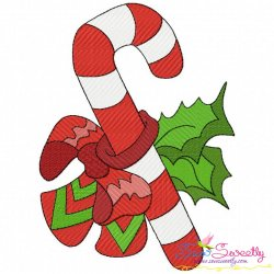 Free Christmas Candy Cane Embroidery Design