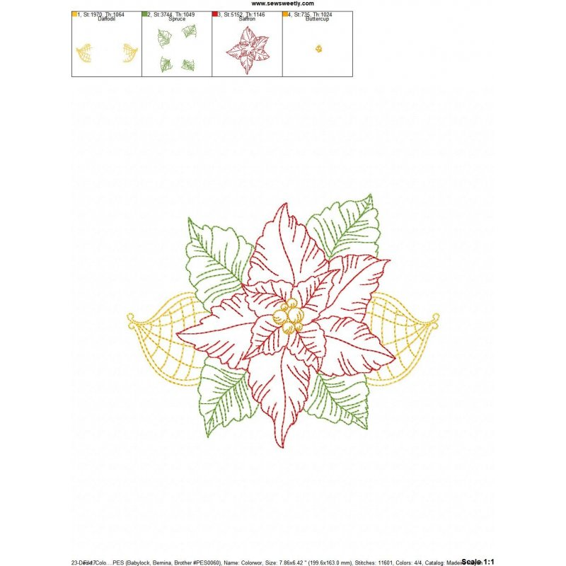 Vintage stitch colorwork christmas leaves machine