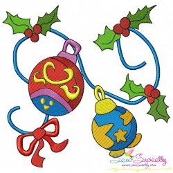 Christmas Ornaments-3 Embroidery Design