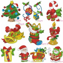 Christmas Embroidery Design Bundle-2