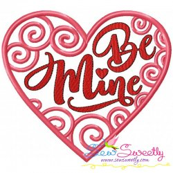Be Mine Swirls Heart Machine Embroidery Design