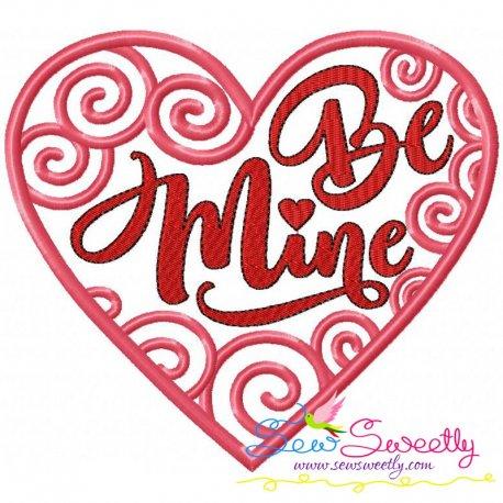 Be Mine-2 Machine Embroidery Design