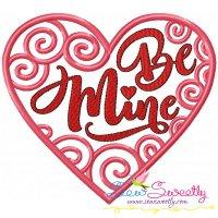 Be Mine Swirls Heart Machine Embroidery Design