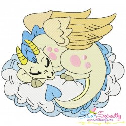 Baby Dragon-6 Embroidery Design