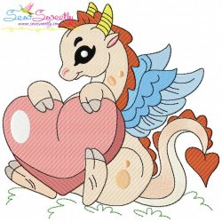 Baby Dragon-3 Embroidery Design