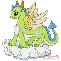 Baby Dragon-4 Embroidery Design