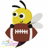 Football Yellow Jacket Mascot Embroidery Design