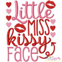Miss Kissy Face Embroidery Design
