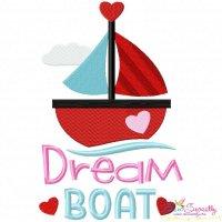 Valentine Dream Boat Embroidery Design