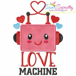 Love Machine Applique Design