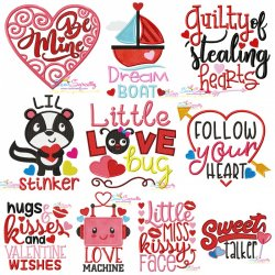 Valentine's Day Lettering Designs Full Set