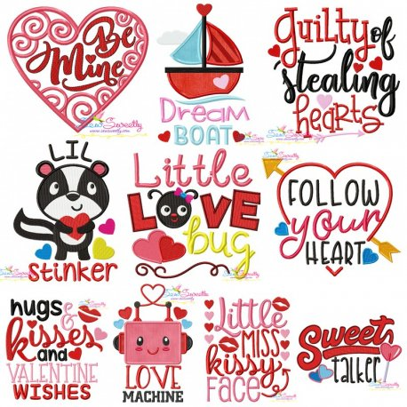 Valentine's Day Lettering Designs Full Set