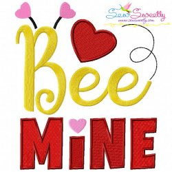 Bee Mine-2 Embroidery Design