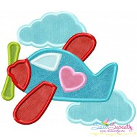 Valentine Airplane Applique Design